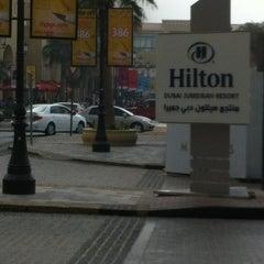 Photo taken at Hilton Dubai Jumeirah Resort by Alona B. on 1/25/2013