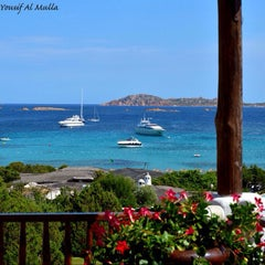 Photo taken at Hotel Romazzino, Costa Smeralda by Yousif A. on 8/28/2013