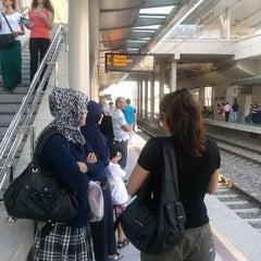 Photo taken at İzban Bayraklı İstasyonu by TC Necla Ömer A. on 6/27/2013