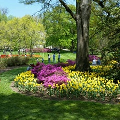 Photo taken at Sherwood Gardens by John P. on 5/3/2015