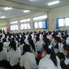 Photo taken at SMKN 4 Denpasar by Novi A. on 7/13/2013