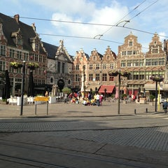 Photo taken at Sint-Veerleplein by Raf K. on 6/25/2013