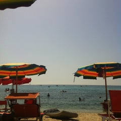 Photo taken at Spiaggia Seccheto by Beatrice F. on 8/5/2013