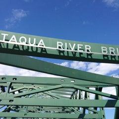 Photo taken at Piscataqua River Bridge by Cassandra G. on 5/18/2013
