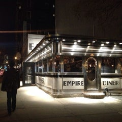 Photo taken at Empire Diner by Cheema's NYC on 2/25/2014