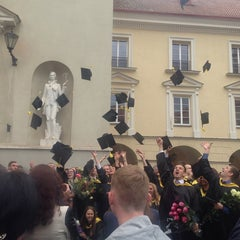 Photo taken at Vilniaus universiteto Filosofijos fakultetas by Agne V. on 6/27/2014