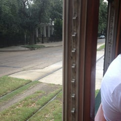 Photo taken at St. Charles Streetcar by Carlton T. on 9/14/2013