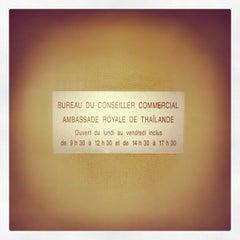 Photo taken at Ambassade Royale de Thaïlande | สถานเอกอัครราชทูตไทย ณ กรุงปารีส | Royal Thai Embassy in Paris by Kuroluis G. on 12/28/2012