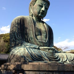 Photo taken at 鎌倉大仏 (Great Buddha of Kamakura) by KAMI52 on 4/30/2013