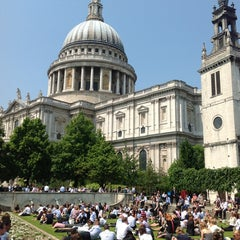 Photo taken at St Paul's Churchyard by Jan T. on 6/6/2013