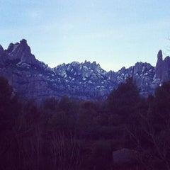 Photo taken at Monistrol de Montserrat by Sandrastica on 1/23/2013