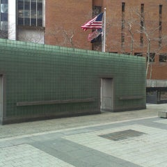 Photo taken at New York City Vietnam Veterans Memorial Plaza by Katie F. on 3/2/2013