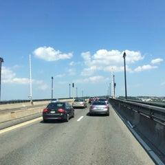 Photo taken at Frederick Douglass Memorial Bridge by Abdullah Yilmaz T. on 6/16/2014