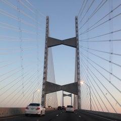 Photo taken at Napoleon Bonaparte Broward (Dames Point) Bridge by Michelle Cruz Rosado on 5/8/2013