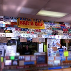 Photo taken at Bates City BBQ by Mark E S. on 12/26/2012