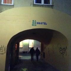 Photo taken at Kanonia Hostel Warsaw by Eugene V. on 1/3/2014