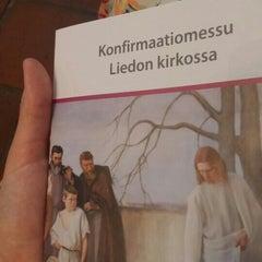 Photo taken at Liedon kirkko by Tiia H. on 7/4/2015