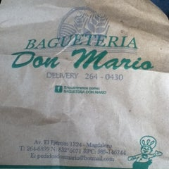 Photo taken at Baguetería Don Mario by Manvel R. on 8/12/2013