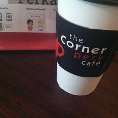 Photo taken at The Corner Perk Cafe, Dessert Bar, and Coffee Roasters by Alison on 5/4/2013