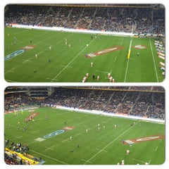 Photo taken at Newlands Rugby Stadium by Andries H. on 7/13/2013