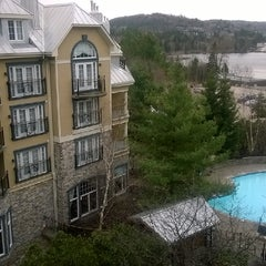 Photo taken at Le Westin Resort & Spa, Tremblant, Quebec by Catalin S. on 5/9/2014