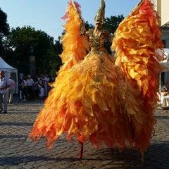 Photo taken at Schloss Albrechtsberg by Anja M. on 7/19/2014