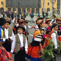 Photo taken at Plaza Mayor de Lima by Jaclyn T. on 6/23/2013
