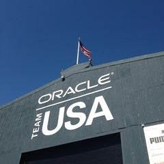 Photo taken at Oracle Team USA -Pier 80 by Heather F. on 7/25/2013