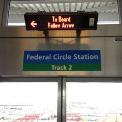 Photo taken at JFK AirTrain - Federal Circle Station by Masashi S. on 4/23/2013