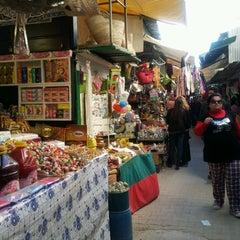 Photo taken at Souk Sidi Mehrez by Semia S. on 4/9/2014