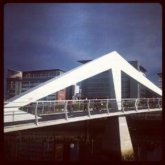 Photo taken at Tradeston-Broomielaw Bridge (Squiggly) by Tahir M. on 9/20/2013