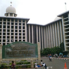 Photo taken at Masjid Istiqlal by Rasyad A. on 7/16/2013