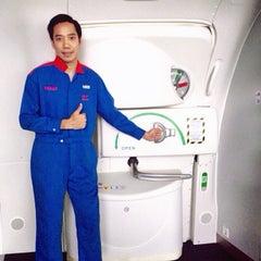 Photo taken at ศูนย์ลูกเรือ (Thai Airways Crew Center Laksi) by Pélé T. on 5/30/2015