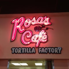 Photo taken at Rosa's Cafe & Tortilla Factory by Amanda B. on 7/12/2013