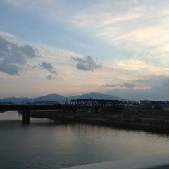 Photo taken at 滝尾橋 by Kenji Y. on 1/24/2013