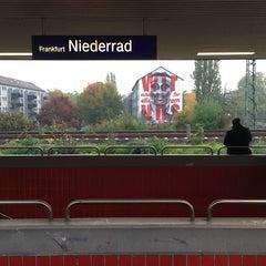Photo taken at Bahnhof Frankfurt-Niederrad by Robert R. on 10/21/2015