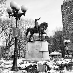 Photo taken at George Washington Statue by Clarissa on 2/12/2014