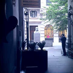 Photo taken at The Royal Exchange by George T. on 6/10/2013