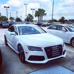 Photo taken at Audi North Houston by Matt C. on 7/24/2014