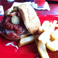 Photo taken at Red Robin Gourmet Burgers by A.J. W. on 6/25/2013
