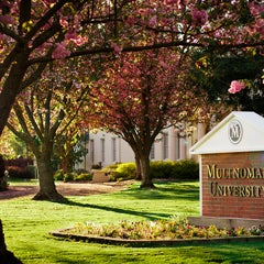 Photo taken at Multnomah University by Multnomah University on 10/12/2013