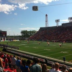 Photo taken at McMahon Stadium by Maryse C. on 7/20/2013