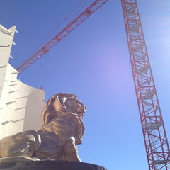 Photo taken at MGM Grand Lion Statue by goko.usa on 1/21/2013