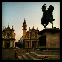 Photo taken at Piazza San Carlo by ansev c. on 8/4/2013