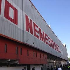 Photo taken at Estadio Nemesio Diez by Cristian M. on 1/27/2013
