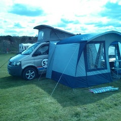 Photo taken at Scarborough Camping and Caravanning Club by Adam S. on 5/5/2013