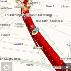 Photo taken at EXIT Toll Pondok Gede Barat by Agnes T. on 1/23/2014