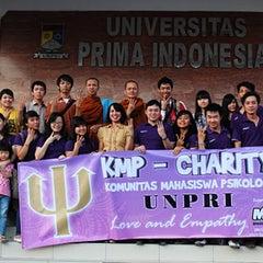 Photo taken at Universitas Prima Indonesia ( kampus II ) by Bhante A. on 9/16/2013