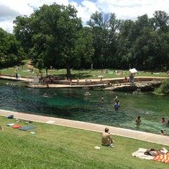 Photo taken at Barton Springs Pool by Jacob P. on 6/1/2013