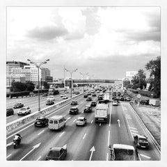 Photo taken at МКАД (Московская кольцевая автомобильная дорога) by Nusha C. on 6/9/2013